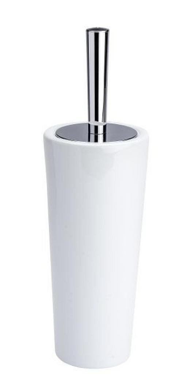 WC-BÜRSTENGARNITUR - Chromfarben/Weiß, Keramik/Kunststoff (11,5/37cm)