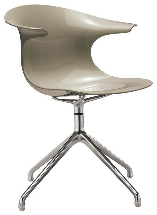 STUHL in Metall, Kunststoff Grau, Alufarben - Alufarben/Grau, Design, Kunststoff/Metall (63/82,7/67cm)