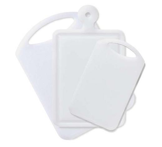 Schneidebrett 3-ER SET - Weiß, Basics, Kunststoff - Homeware