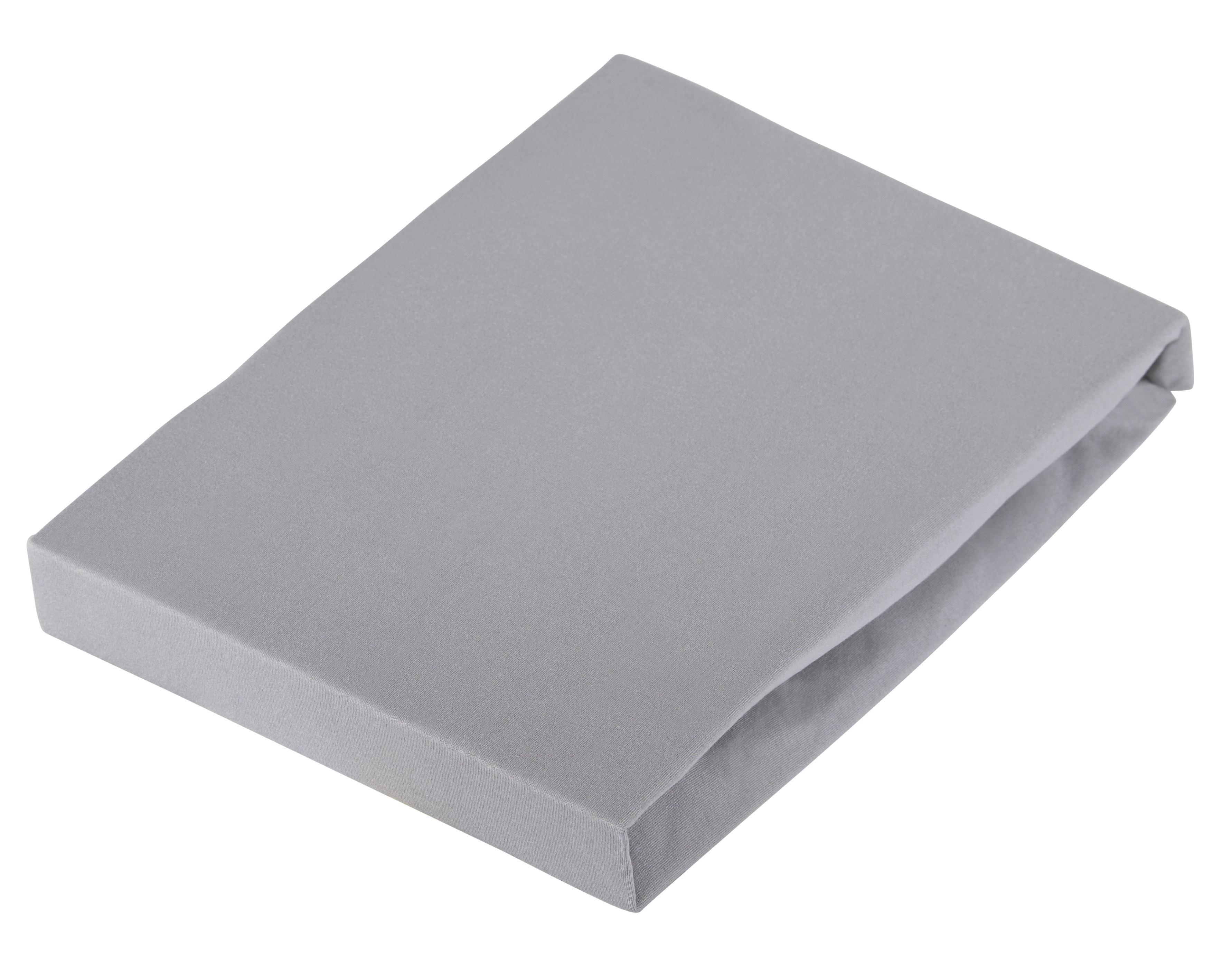 PLAHTA S GUMICOM - siva, Basics, tekstil (180/200cm) - SCHLAFGUT