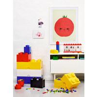 AUFBEWAHRUNGSBOX 25/25/18 cm - Gelb, Trend, Kunststoff (25/25/18cm) - Lego