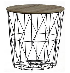 KORPA - Crna/Prirodna boja, Moderno, Metal/Pločasti materijal (40/41cm) - Ambia Home