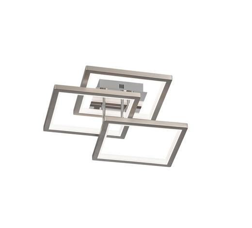 LED-DECKENLEUCHTE - Chromfarben/Nickelfarben, Design, Metall (57,5/17/57,5cm)