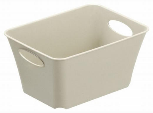 BOX Kunststoff Beige - Beige, Basics, Kunststoff (18/13,4/9cm)