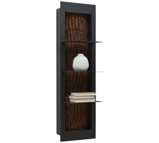 HÄNGEELEMENT in Anthrazit, Eichefarben - Eichefarben/Anthrazit, Natur, Holz/Metall (38,5/134,5/29cm) - Valnatura