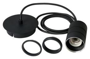 LAMPUPPHÄNG - svart, Basics, metall (12/200cm) - Calex