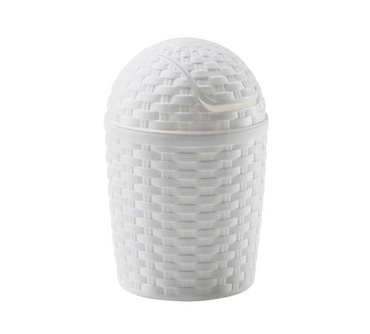 SCHWINGDECKELEIMER 1,2 l  - Weiß, Basics, Kunststoff (1,2l) - Plast 1