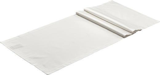 TISCHLÄUFER Textil Weiß 50/160 cm - Weiß, Textil (50/160cm)