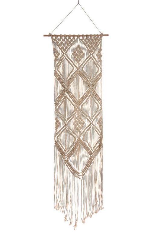 WANDDEKO Holz, Textil - Beige, LIFESTYLE, Holz/Textil (55/2/183cm)