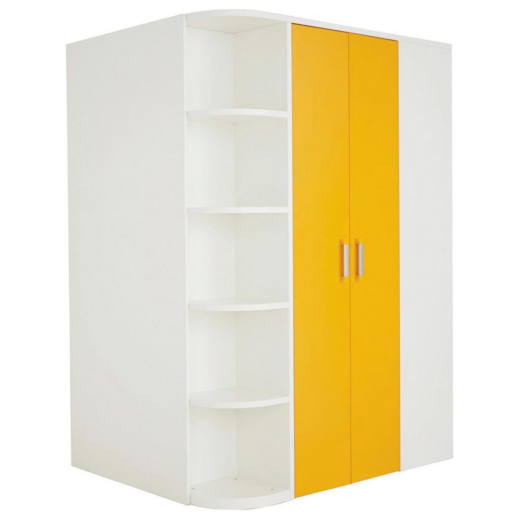 Begehbarer Kleiderschrank in Weiß und Orange von Venda