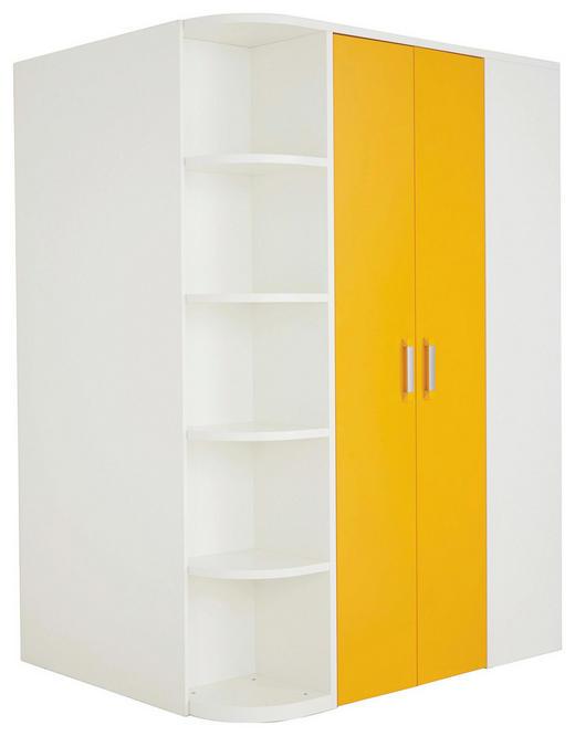 Eckkleiderschrank weiß  BEGEHBARER ECKSCHRANK 1-türig Orange, Weiß online kaufen ➤ XXXLutz