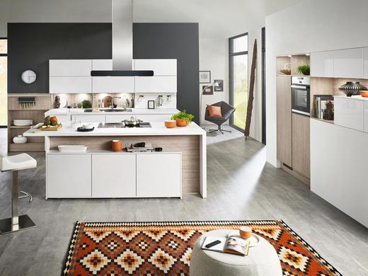 EINBAUKÜCHE - Weiß, Design - Moderano