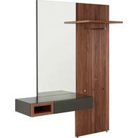 GARDEROBE - Nussbaumfarben/Grau, Design, Glas/Holz (176/211,2/45cm) - Hülsta
