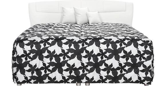POLSTERBETT 180/210 cm  in Schwarz, Weiß  - Schwarz/Weiß, KONVENTIONELL, Textil (180/210cm) - Esposa