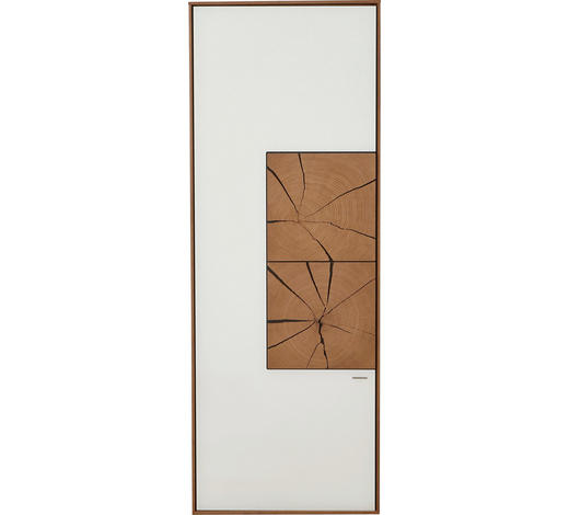 HÄNGEELEMENT in Weiß, Eichefarben - Eichefarben/Weiß, Design, Glas/Holz (50/137/39cm) - Valnatura