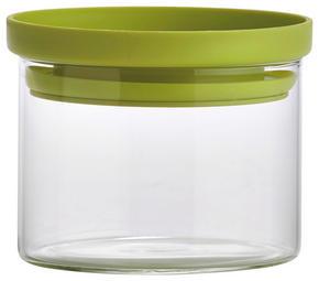 FÖRVARINGSBURK - klar/grön, Basics, glas/plast (9,5/7cm) - Homeware