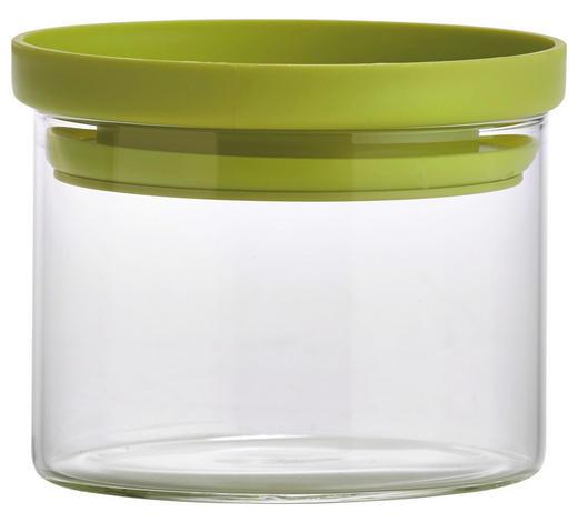 VORRATSDOSE  0,4 L - Klar/Grün, Basics, Glas/Kunststoff (9,5/7cm) - Homeware