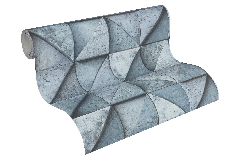 VLIESTAPETE 10,05 m - Blau, Basics, Textil (53/1005cm)