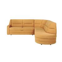 WOHNLANDSCHAFT in Textil Goldfarben - Goldfarben/Schwarz, KONVENTIONELL, Kunststoff/Textil (251/285cm) - Sedda