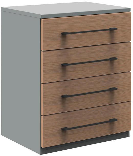 SIDEBOARD 60/76,5/43 cm - Eichefarben/Anthrazit, Design, Holzwerkstoff/Metall (60/76,5/43cm)