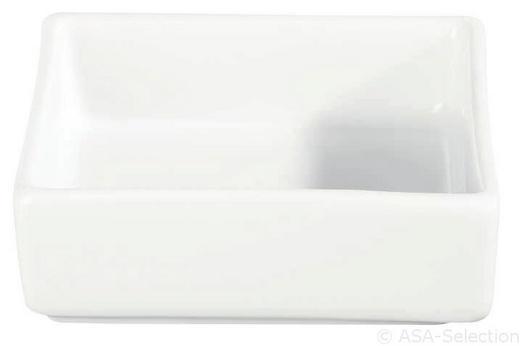 SCHALE - Weiß, Design (7,5/7,5/2,3cm) - ASA