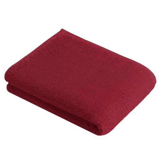 BADETUCH 100/150 cm - Rot, Basics, Textil (100/150cm) - Vossen