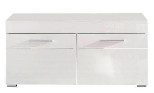 GARDEROBENBANK Weiß - Silberfarben/Weiß, Design, Kunststoff (91/42/38cm) - Carryhome
