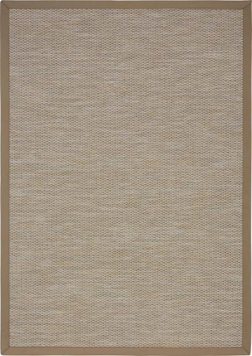 FLACHWEBETEPPICH IN-/ OUTDOOR  133/190 cm  Grau, Hellbraun - Hellbraun/Grau, Basics, Textil (133/190cm) - Novel
