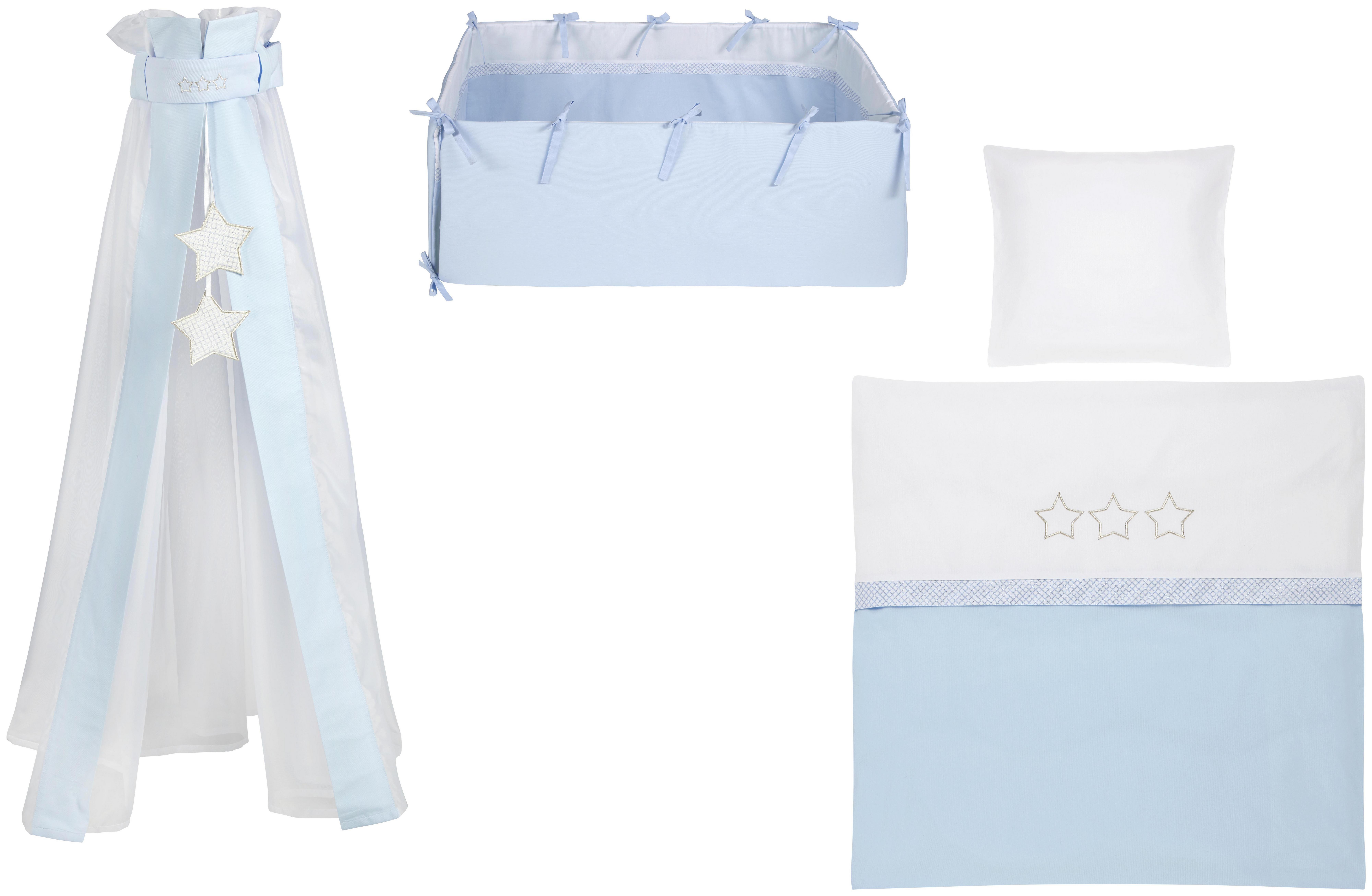 Wiegenset 3 stars blau weiß online kaufen ➤ xxxlutz