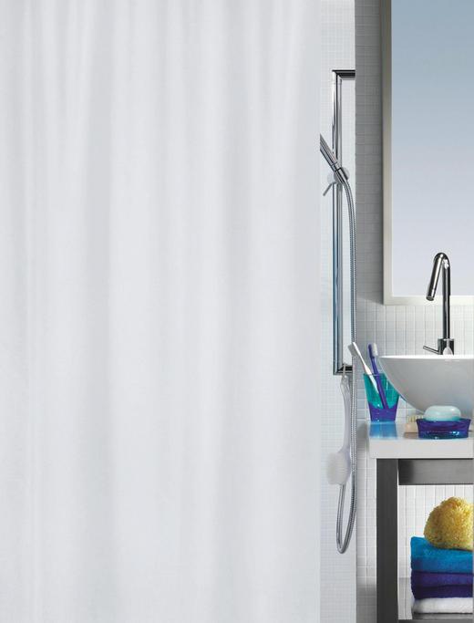 DUSCHVORHANG  Weiß - Weiß, Basics, Textil (120/200cm) - SPIRELLA