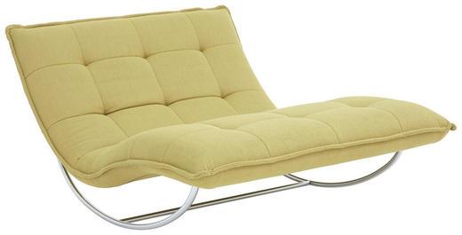 RELAXLIEGE in Textil Gelb - Chromfarben/Gelb, Design, Textil/Metall (125/85/169cm) - Chilliano