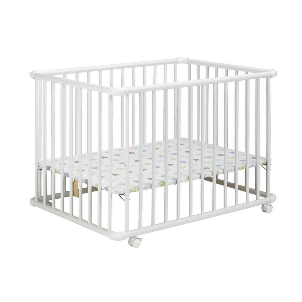 Geuther LAUFGITTER Belami Plus 97/76/70,5 cm, Weiß | Kinderzimmer > Babymöbel > Lauf- & Schutzgitter | Holz | Geuther