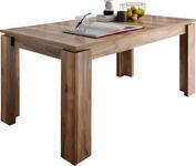 ESSTISCH in Holzwerkstoff 160(200)/90/77 cm  - Nussbaumfarben, Basics, Holzwerkstoff (160(200)/90/77cm) - Carryhome