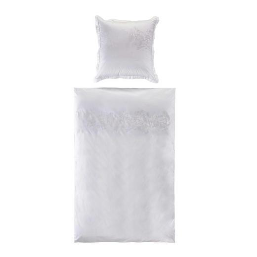 BETTWÄSCHE Jacquard Weiß 135/200 cm - Weiß, Design, Textil (135/200cm)