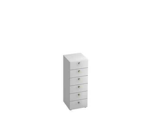 KOMMODE - Alufarben/Weiß, KONVENTIONELL, Holzwerkstoff/Metall (40/110/42cm)