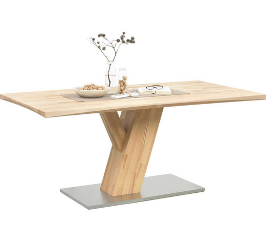esstisch in massiv kernbuche buchefarben buchefarben design holzmetall 180 - Esstische Holz Eines Der Besten Qualitat