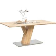 ESSTISCH in Holz, Metall 180/90/76 cm - Buchefarben, Natur, Holz/Metall (180/90/76cm) - Linea Natura