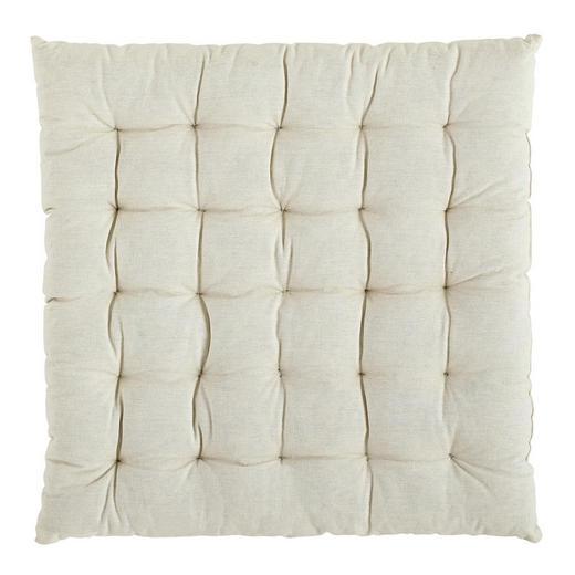 SITZKISSEN Weiß 40/40 cm - Weiß, Design, Textil (40/40cm) - Boxxx