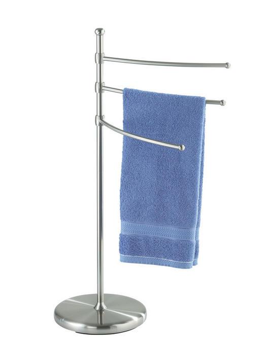 HANDTUCHHALTER Silberfarben - Silberfarben, Design, Metall (28/28/90cm)