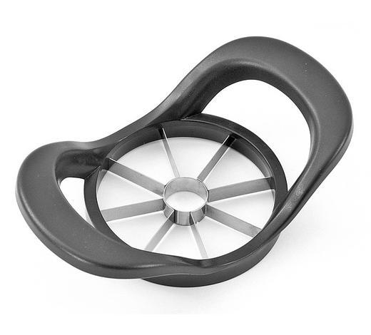 APFELTEILER - Anthrazit, KONVENTIONELL, Kunststoff/Metall (18/11cm) - Homeware