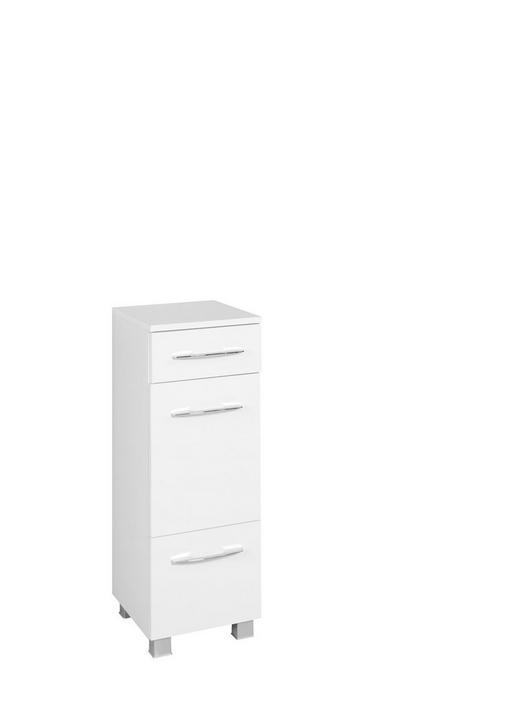 Unterschrank weiß chromfarben silberfarben design holzwerkstoff kunststoff 30 84