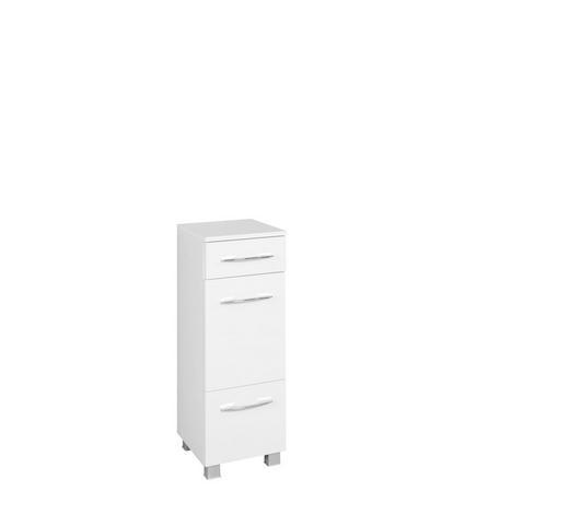 UNTERSCHRANK Weiß  - Chromfarben/Silberfarben, KONVENTIONELL, Holzwerkstoff/Kunststoff (30/84/35cm) - Carryhome