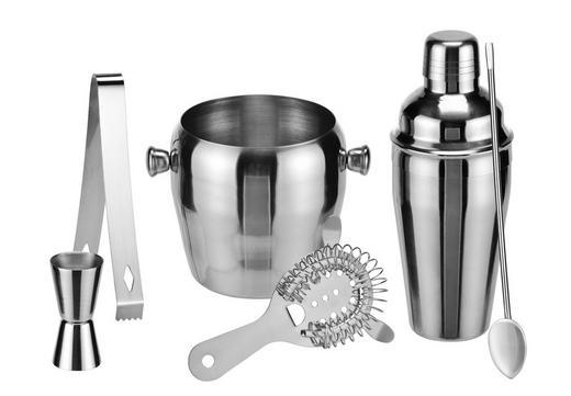 COCKTAIL-SET - Edelstahlfarben, Basics, Metall (40,5/25/13cm)