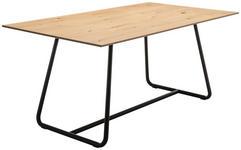 ESSTISCH in Holz, Metall   - Eichefarben/Anthrazit, Natur, Holz/Metall (180/76/100cm) - Moderano