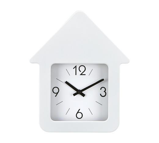 WANDUHR  21/25 cm  - Weiß, Basics, Kunststoff (21/25cm) - Boxxx