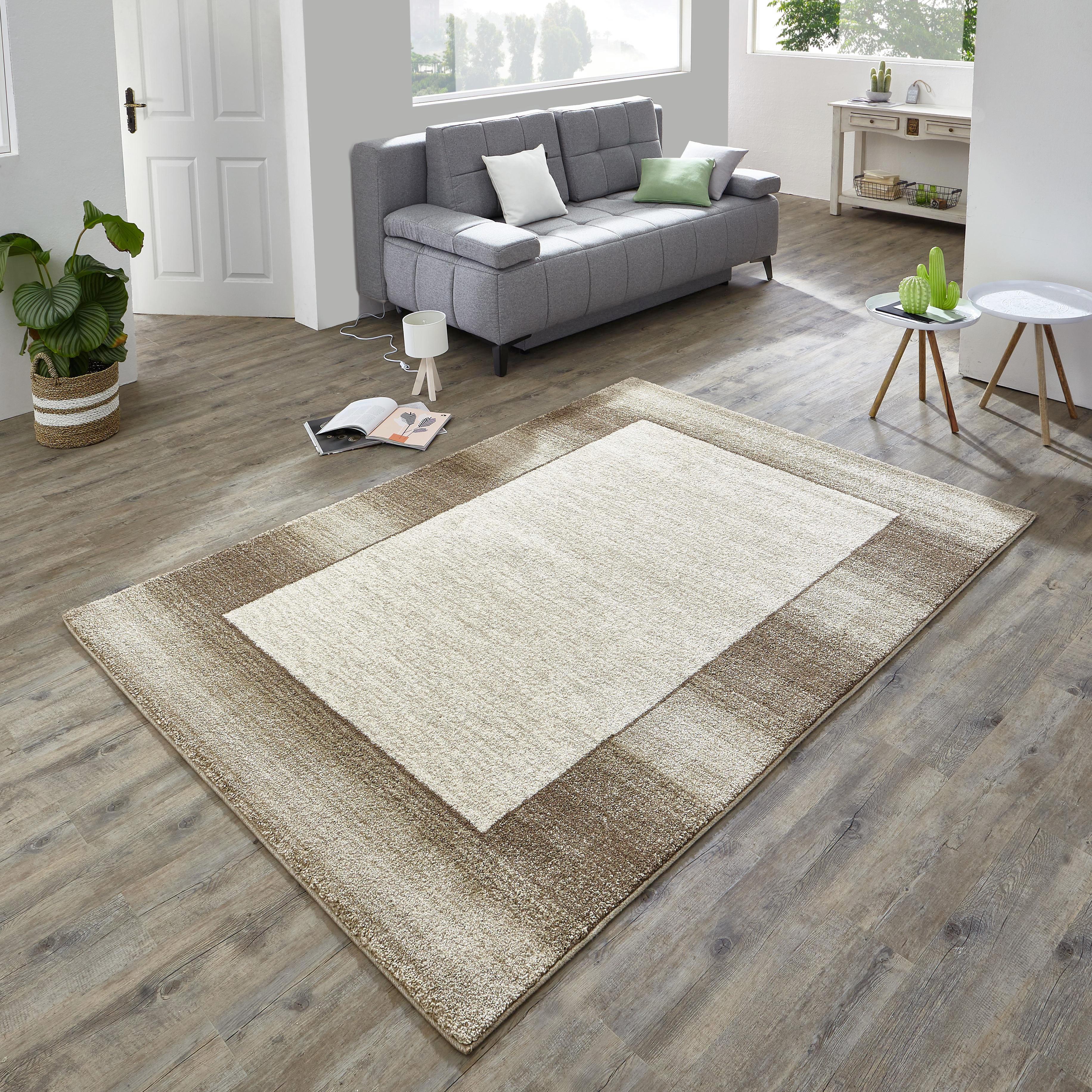WEBTEPPICH  Beige, Braun  140/200 cm - Beige/Braun, Basics, Textil (140/200cm) - NOVEL