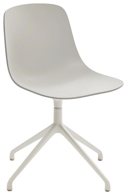 STUHL Hellgrau, Weiß - Hellgrau/Weiß, Design, Kunststoff/Metall (67/81/67cm)