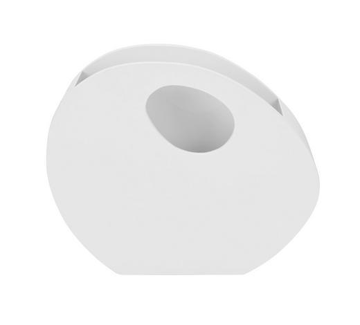 STOJAN NA NOVINY, bílá - bílá, Design, dřevo (46/38/12cm)