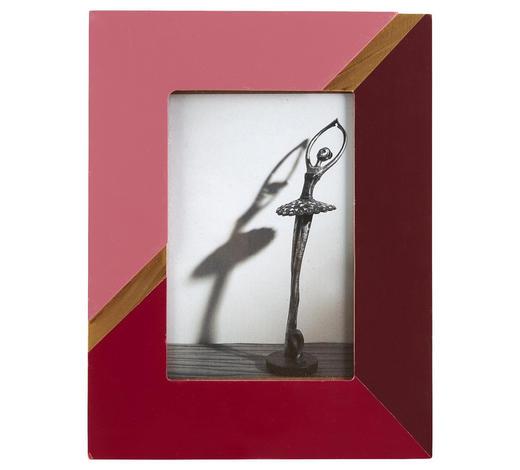 FOTORAHMEN in Rosa, Goldfarben, Beere  - Beere/Goldfarben, Trend, Glas/Holzwerkstoff (16,8/21,8/1,2cm) - Ambia Home