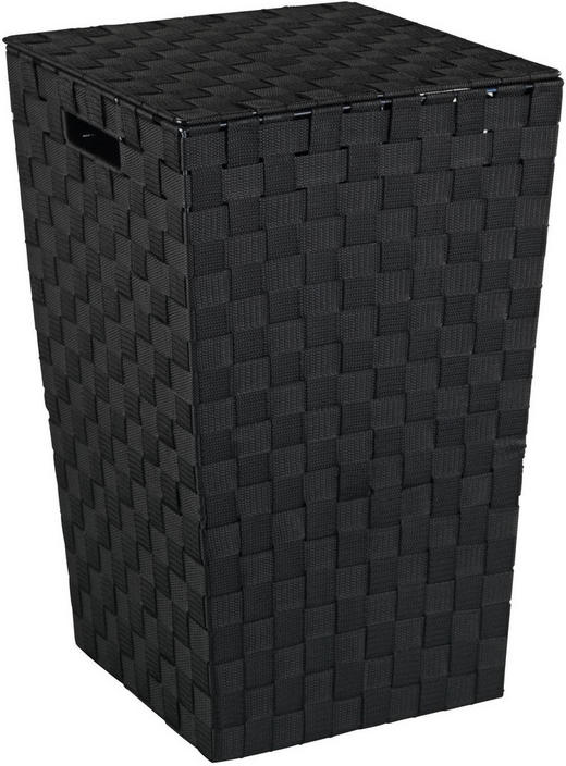 WÄSCHETONNE - Schwarz, Basics, Kunststoff (33/53/33cm)